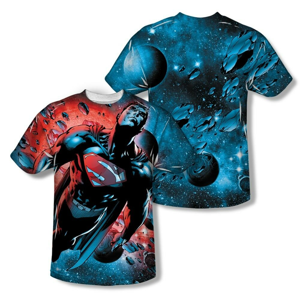 SUPERMAN RED SUN Licensed Sublimated Adult Men's Graphic Tee Shirt SM-3XL