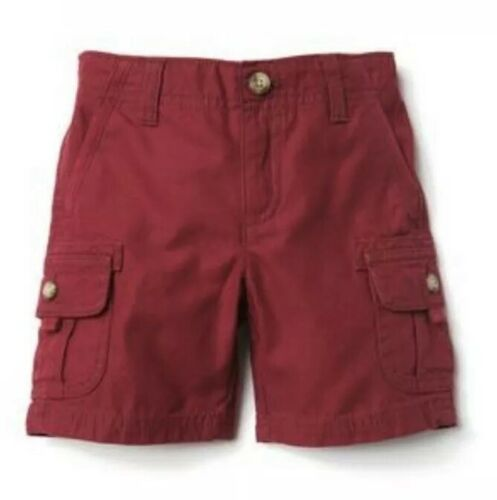 NWT Gymboree Boys CAMP MUST HAVES Dark Red Cargo Shorts Size 18-24 M