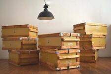 8 x Holzkiste Vintage Fabrik Holz Metall Antik Loft Frachtkiste Alt Groß Shabby