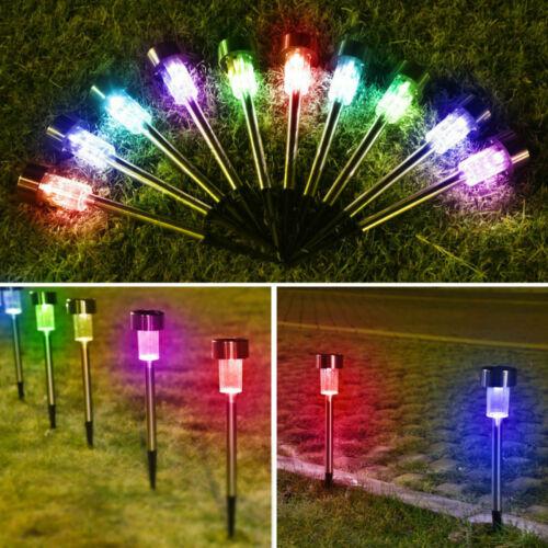 Colorful solaire lampes extérieur jardin lumière DEL Landscape Pathway Light Stainless