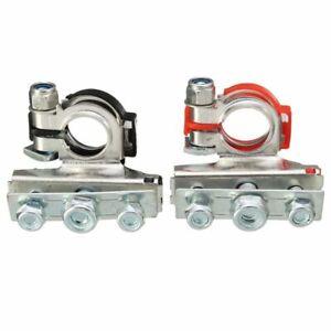 2X-Bornes-de-Batterie-Positives-et-NeGatives-Connecteurs-Pinces-Voiture-Van-M7T6