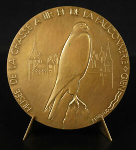 Medal-Museum-de-La-Hunting-Gien-Fowl-Falconry-Falcon-Falcon-Falconry-Medal