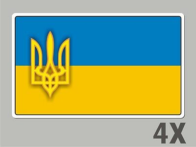 4 Ukraine stickers flag decal bumper car bike emblem vinyl FL066