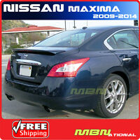 For 09-14 Nissan Maxima 4dr Sedan Rear Trunk Tail Lip Spoiler Painted Abs