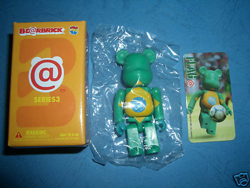 """Medicom Bearbrick Series 3 S3 Flag /""""Brazil/"""" Be@rbrick"""