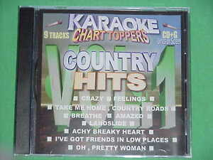 Details about Country Hits ~ Karaoke Chart Toppers ~ 08 ~ Chart Toppers  Karaoke ~ CD+G ~ NEW