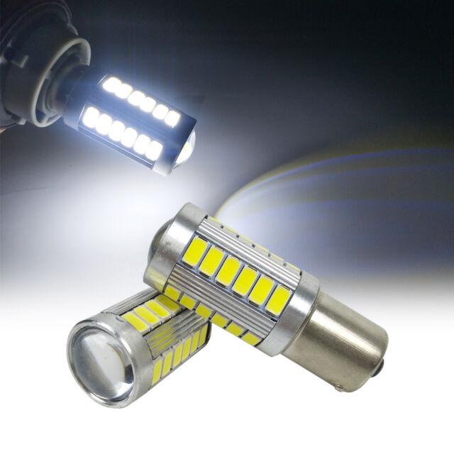 2x BAU15S PY21W 33SMD LED Daytime Running 1156 5630 Car Reverse Light White Bulb