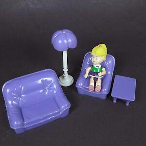 Image Is Loading Purple Plastic Doll House Furniture Lot Living Room