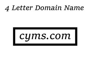 Image is loading CYMS-com-4-LETTER-DOMAIN-NAME-Very-Rare-