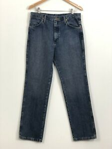 WRANGLER-Mens-Vintage-Straight-Leg-100-Cotton-Denim-Jeans-Size-W32-L32