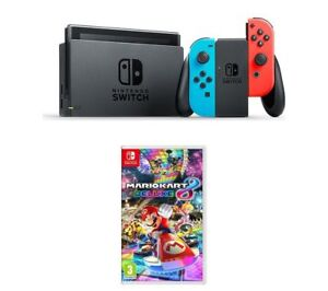 NINTENDO-Switch-Neon-Red-amp-Mario-Kart-8-Deluxe-Bundle
