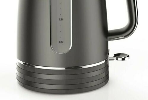 1.7L Electric Charcoal Grey Kettle Jug Fast Water Boiler 3000w 360 rotation Tea