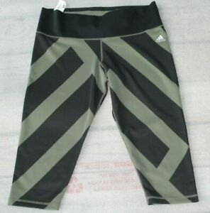 Adidas-Women-039-s-Climalite-black-Green-Capri-Athletic-Cropped-Pants-Size-XL