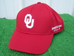 Bridgestone Golf OU Oklahoma Sooners Fitted One Fit Perforated Golf ... 76e24e5f7cd