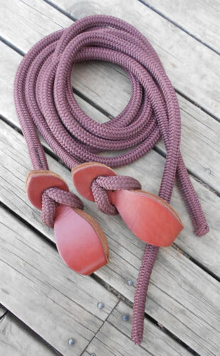 6FT SPLIT REINS with SLOBBER STRAPS Professionally Made 17 colours available