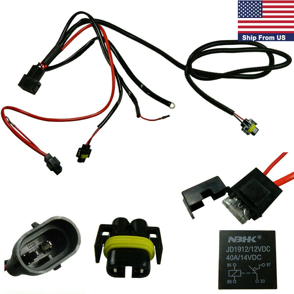 Wiring Harness For HID Conversion Kit add on Fog Light LED DRL 12V 40A for H11