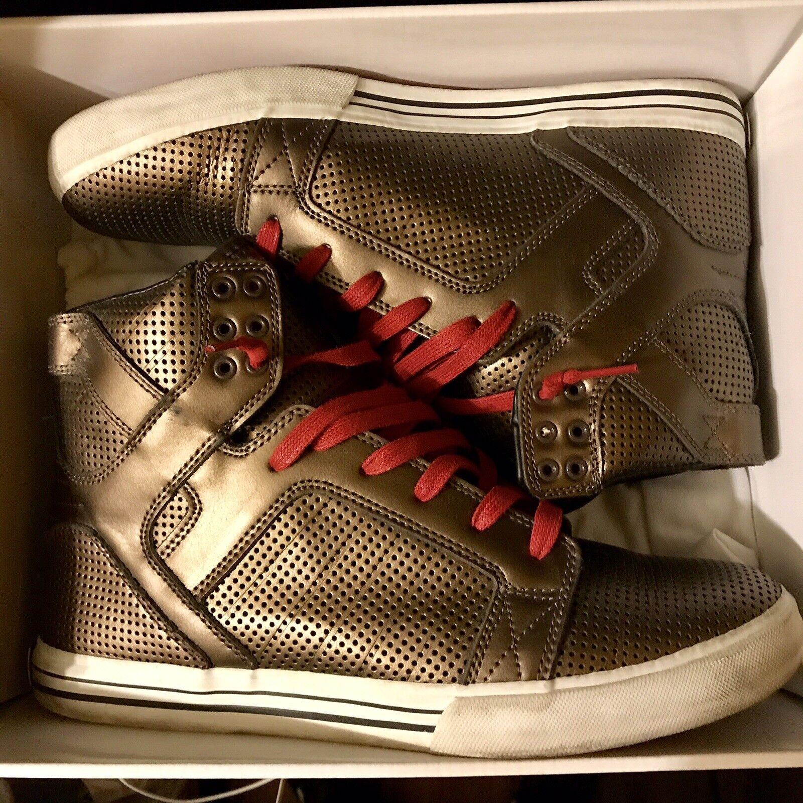 Supra Muska 001 Limited Edition gold OG Skytop Sneakers