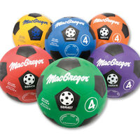 Macgregor® Size 4 Rubber Soccerball - Blue on sale