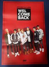 iKON - Debut Full Album (Welcome Back) OFFICIAL POSTER*HARD TUBE CASE*