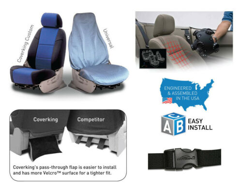 12 Color Options Coverking Custom Seat Covers Premium Leatherette Front Row