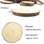 10pcs Wood Slices 4-4.7 inch Unfinished Natural with Tree Barks Diameter Large