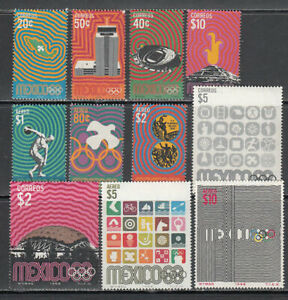 Mexico - Mail 1968 Yvert 749/54+ A.292/6 MNH Sports Games Olympic Of Me