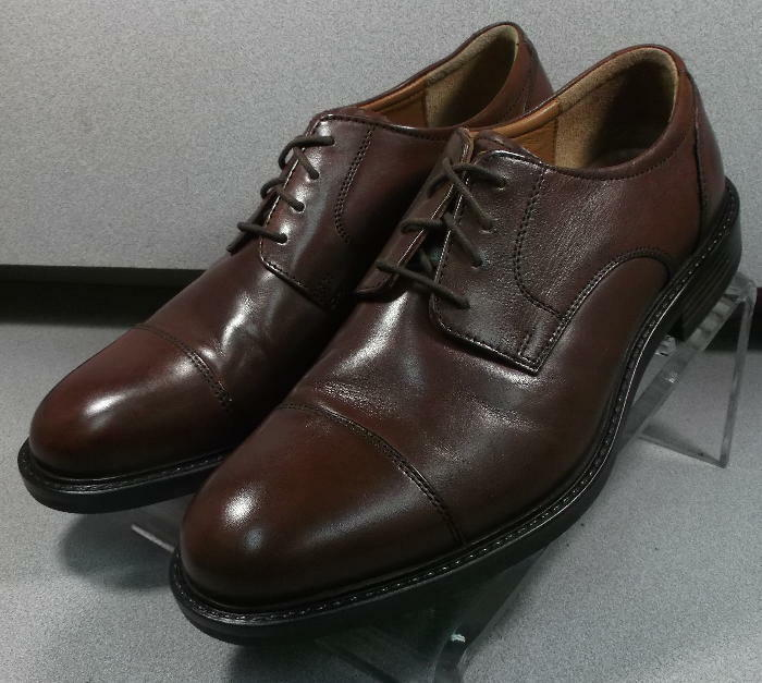 201863 MS50 Men's shoes Size 11 M Brown Leather Lace Up Johnston & Murphy