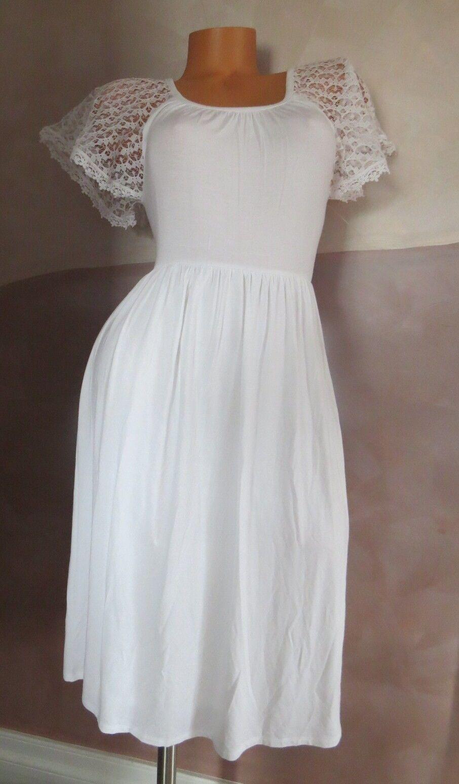 NEW   VICTORIA`S SECRET    WHITE LACE-SLEEVE DRESS SIZE XS