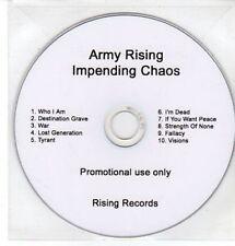(CC850) Army Rising, Impending Chaos - DJ CD