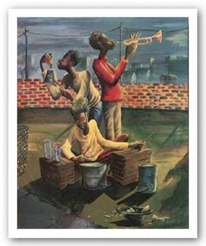 AFRICAN AMERICAN ART PRINT Makin/' Music John Holyfield