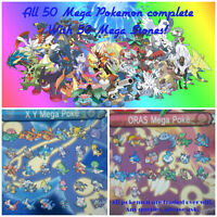 All 50 Mega Evolution for Pokemon Moon, Sun, Alpha & Omega X-Y 3DS