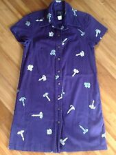 Sig Zane Hawaiian Floral Aloha Shirt Dress Hilo Hawaii Womens Sz XXS Teen Girl
