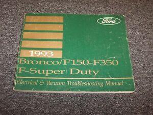 1993 Ford F150 F250 F350 F-Series Electrical Wiring Vacuum ...