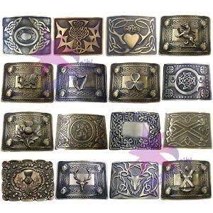 Men/'s Celtic Boucle De Ceinture//CELTIC KNOT DESIGN CHROME finition boucle de ceinture