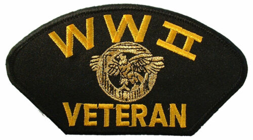"""WWII VETERAN  Embroidered Hat Patch 3/"""" x 5-1//4/"""" 1338"""