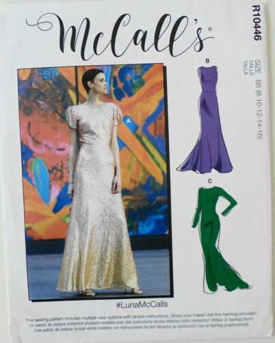 McCalls 8038 Misses Special Occasion Dresses Sewing Pattern Sz 8-16