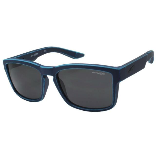 Arnette Sunglasses Slickster 4185 234555 Matt Stone Washed Denim Blue Mirror