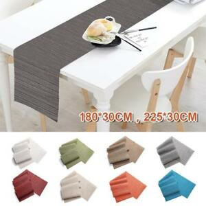 Table-Runner-Bamboo-Woven-Tablecloth-Insulation-Placemat-Kitchen-Mat-Pad-Decor