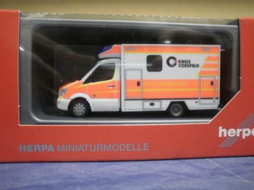 Herpa MB sprinter 13 RTW fahrtec salvamento Dülmen 093675