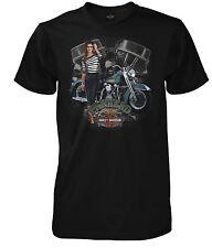 """Orig. Harley-Davidson Dealer T-Shirt  """"PANHEAD PIN-UP"""" *3029348504 M* Gr. M"""