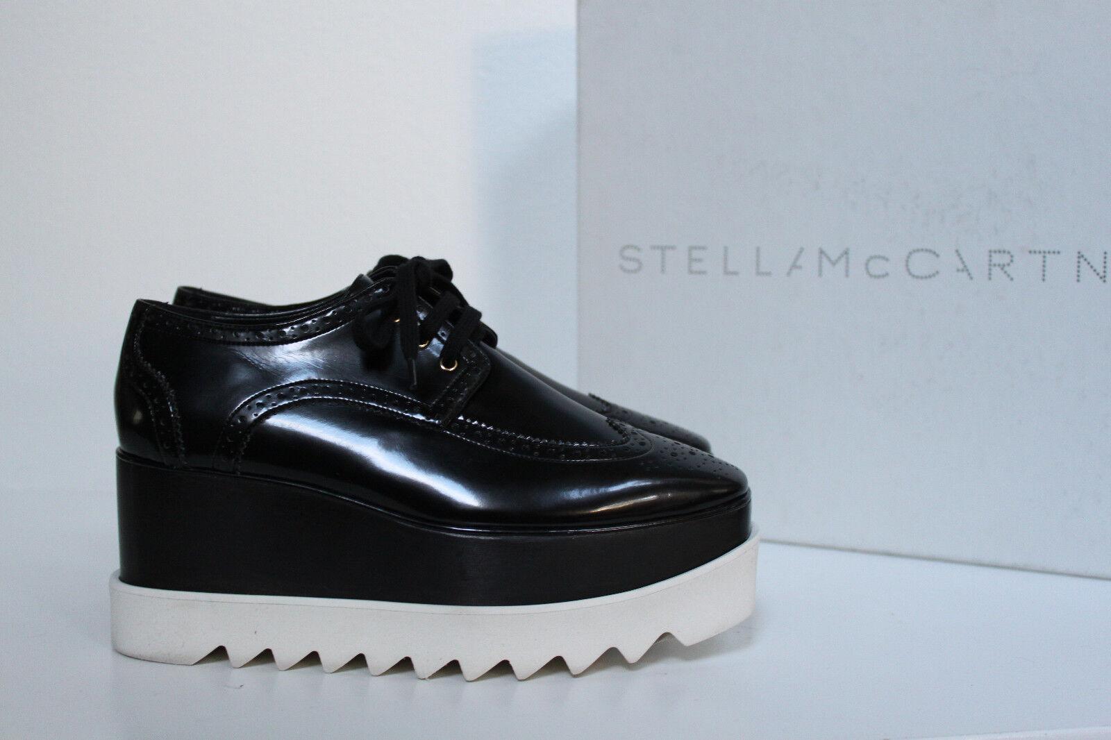 New sz 6   36.5 36.5 36.5 Stella Mccartney Scarpa Black Platform Wedge Heel Oxford shoes d910ec