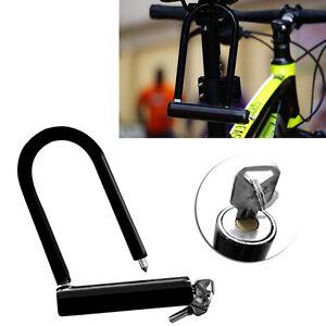 u lock bike bicycle motorcycle cycling scooter security steel chain 2 keys new ebay. Black Bedroom Furniture Sets. Home Design Ideas