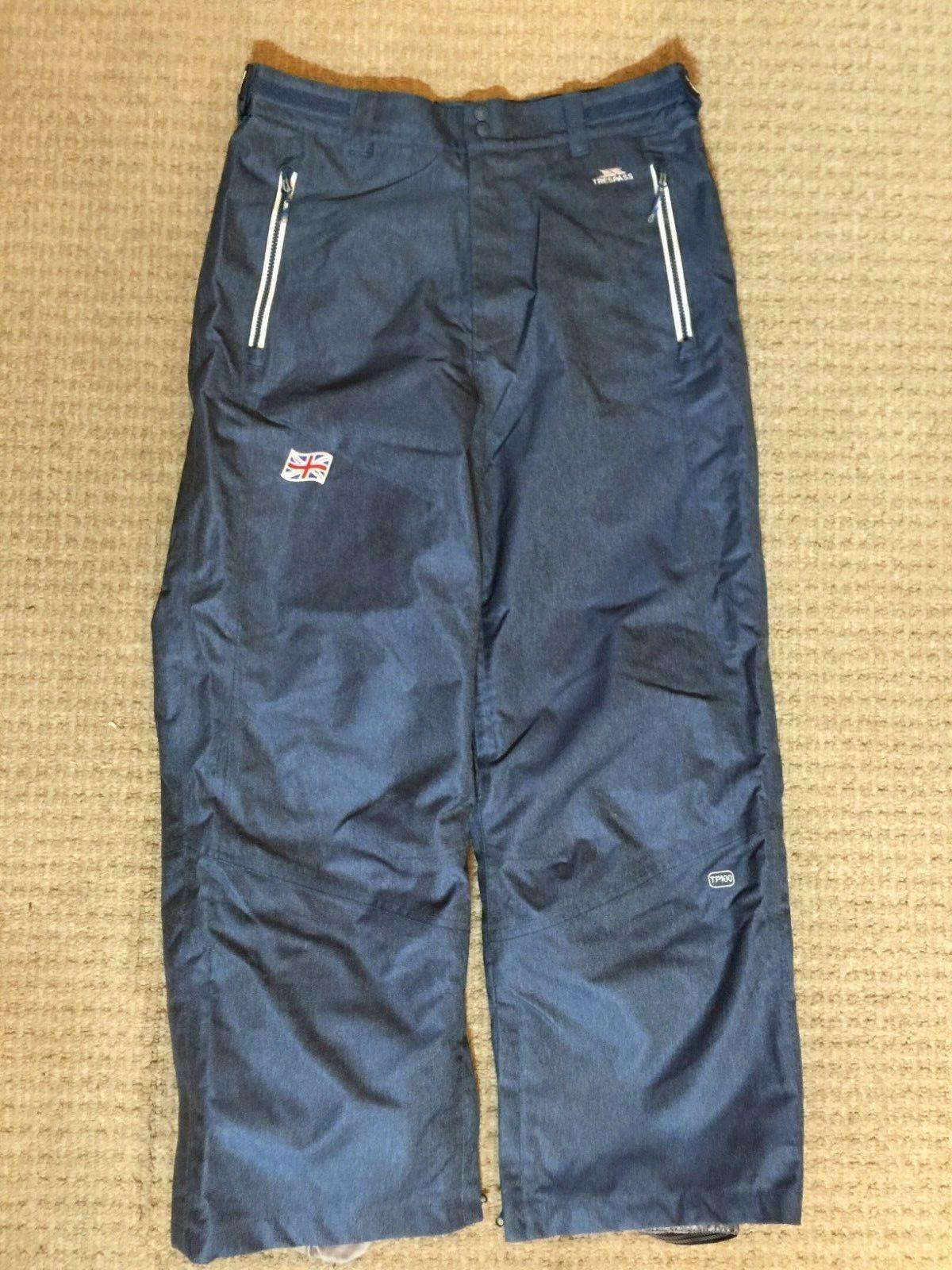 Men's Denim color Trespass ski pants, Size M