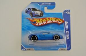 hot wheels bugatti veyron matt blue package 2010 short card ebay. Black Bedroom Furniture Sets. Home Design Ideas