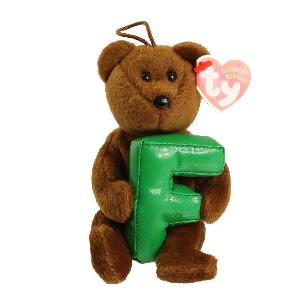 Ty Beanie Babies 40506 Alphabet Bear Letter F