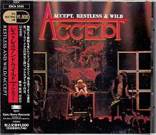 ACCEPT / RESTLESS & WILD JAPAN CD OOP W/OBI