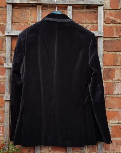 velours Bnwot Blazer simple m en taille croisé Spencer noir 38 Marks wOYqOSB