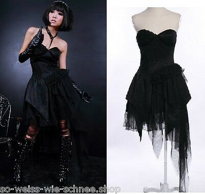 RQ-BL Gothic Kleid Tulle Mini Dress Steampunk Mad Punk Max Apocalypse Noir 21122