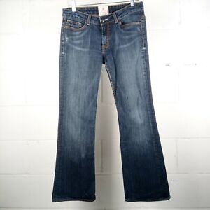 Peoples-Liberation-Boot-Cut-Jeans-Women-Size-31-Stretch-Blue