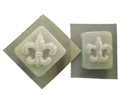 SET OF 2 FLEUR DE LIS  PLASTER OR SOAP MOLD 4681 Moldcreations